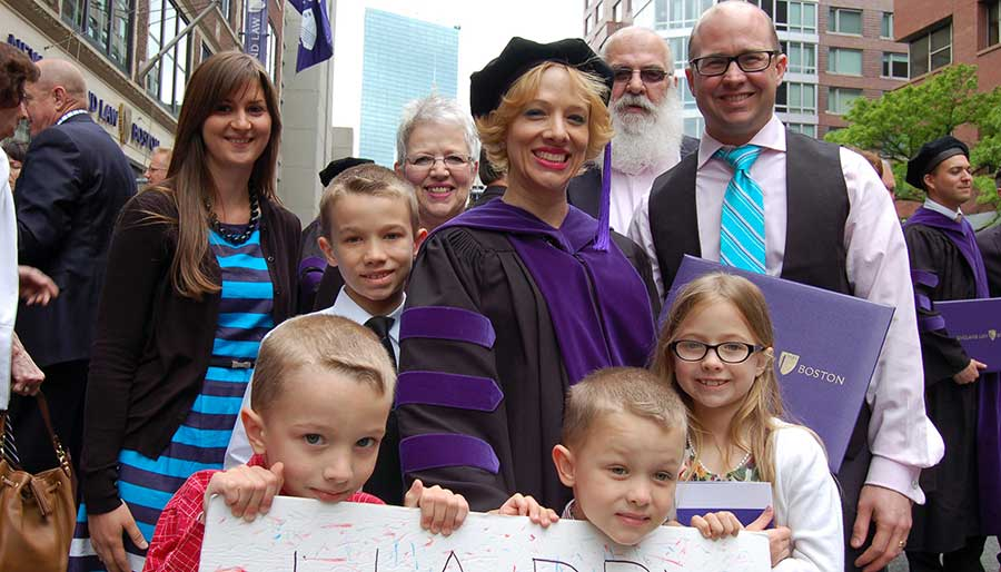 Part-time law student and full-time parent graduating with a JD law degree from New England Law | Boston.